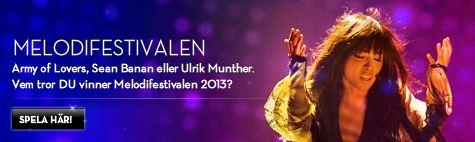 Vill du spela ett odds på vinnaren av Melodifestivalen 2013 hos