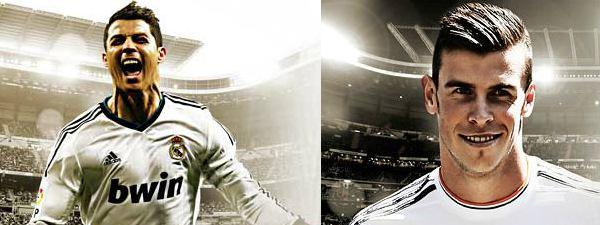 Cristiano Ronaldo och Gareth Bale i kvällens match