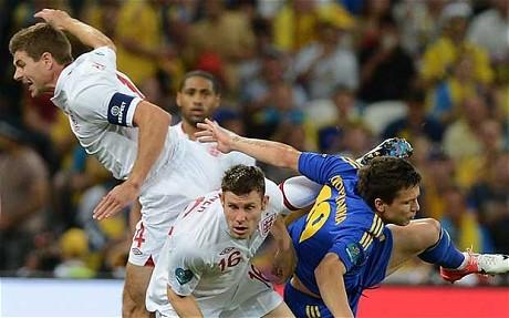 Över tio hörnor i matchen Ukraina - England