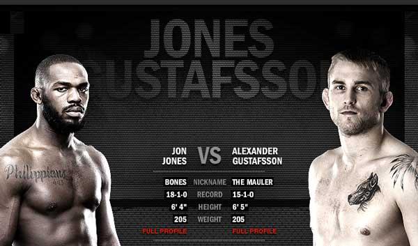 Mästarmöte i UFC Alexander Gustafsson - Jon Jones