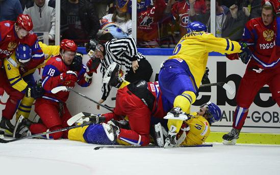 Ryssland - Sverige Ishockey-VM Semifinal