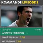 Semifinaler US Open med liveodds