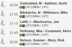 Live Stream UFC MMA Fight Night