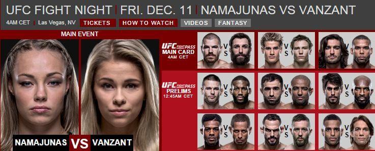UFC fight night 11 december