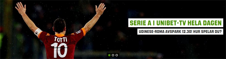 Serie A i Unibet TV hela dagen