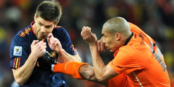 Holland - Spanien landskamp