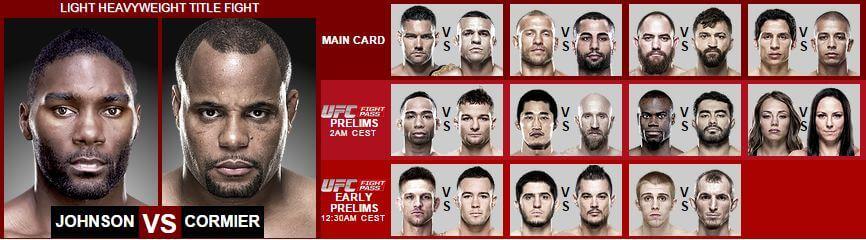 UFC Live Stream gratis i helgen