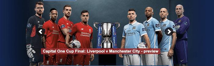 Liverpool - Manchester City Final Engelska Ligacupen 2016
