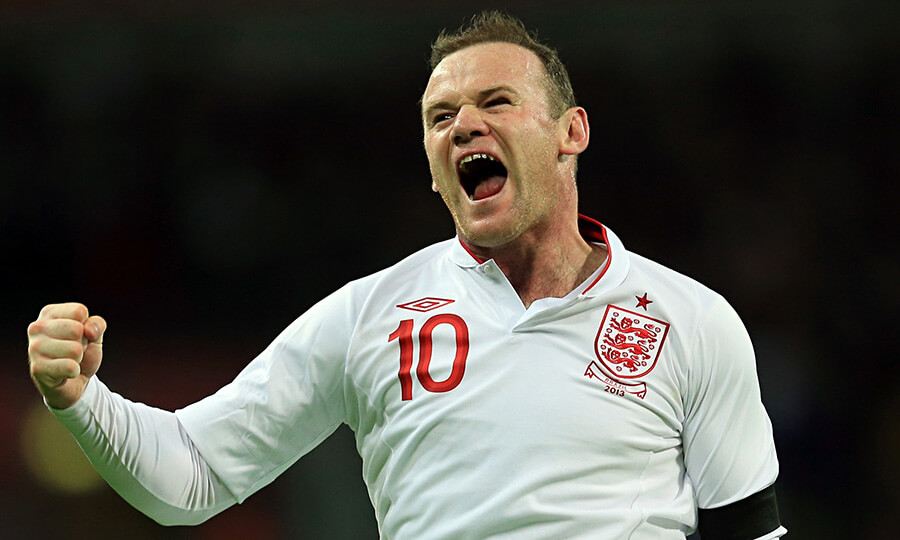 Wayne Rooney has scored 47 goals for England ñ two behind Sir Bobby Charlton's record of 49