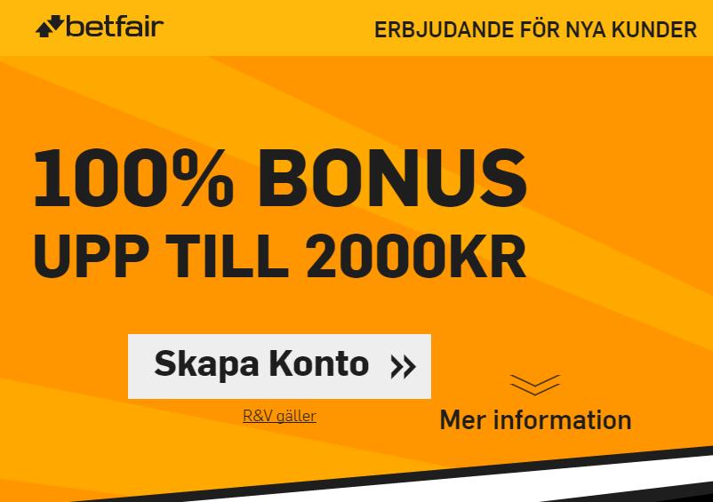 Betfair 2000 kr