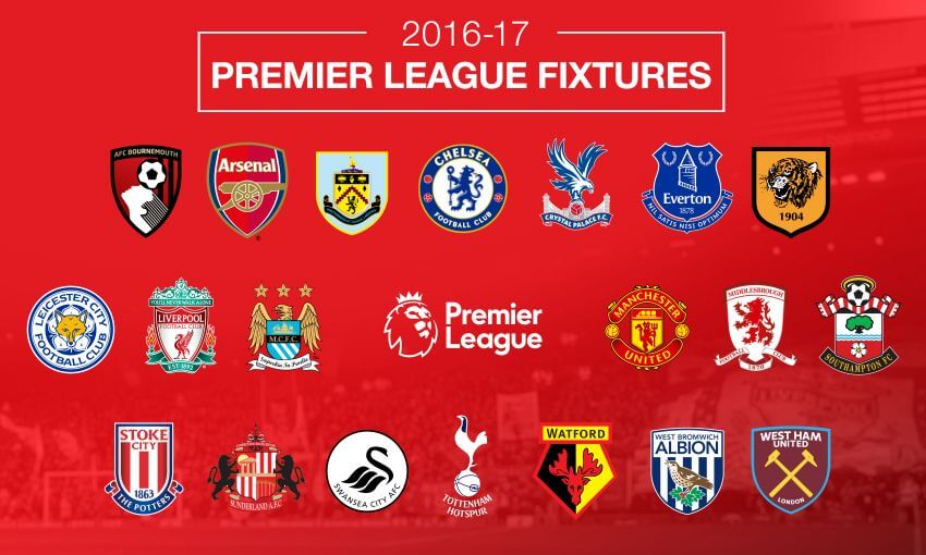 Premier League Spelschema 2016/2017