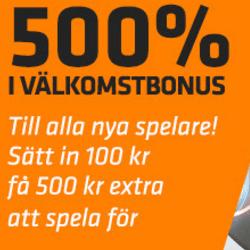 500 Procent casinobonus hos Expekt
