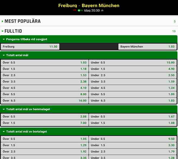 Freiburg – Bayern München