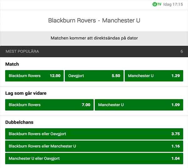 Blackburn – Manchester United FA-cupen