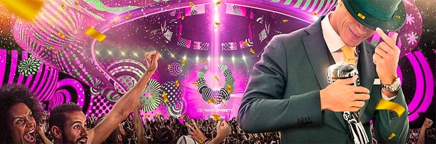 300 Free Spins på Starburst under Eurovision