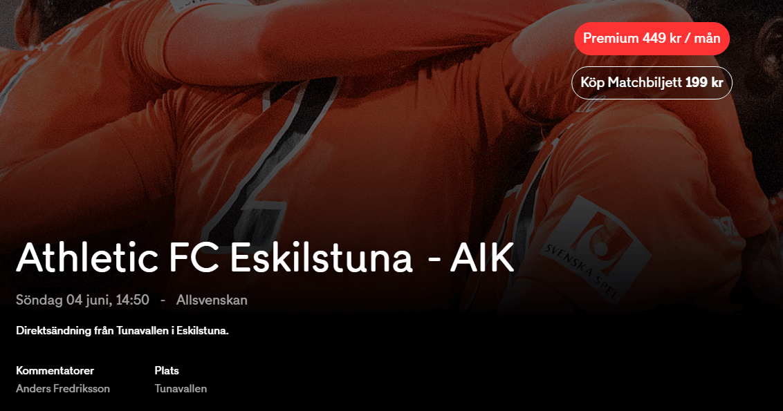live stream athletic fc eskilstuna - aik