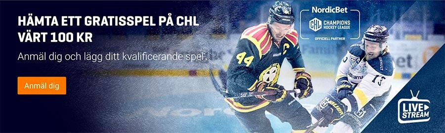 CHL Hockey Brynäs - IFK Helsinki - Live Stream & Speltips