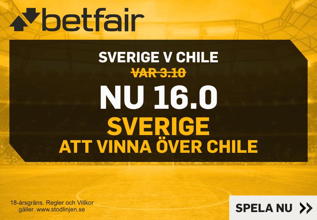 Sverige - Chile odds