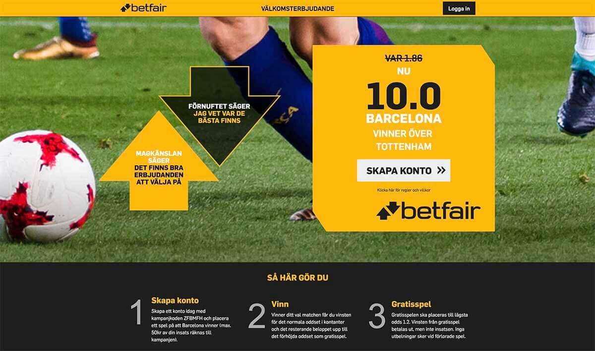 Speltips Tottenham - Barcelona