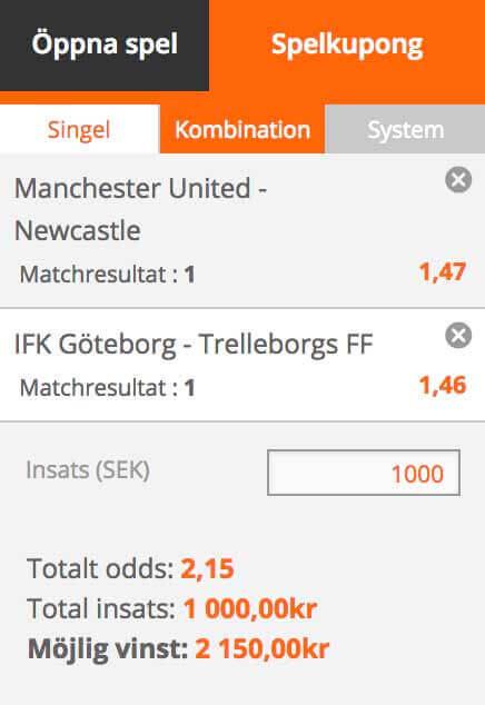 Lördagstipset 6/10: Dubbelkombo Manchester United & IFK Göteborg