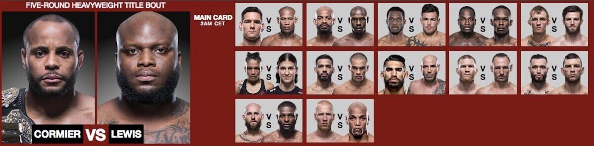 UFC 230 Live Stream & Betting Daniel Cormier - Derrick Lewis