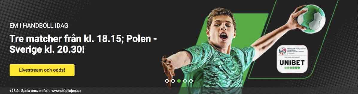 sverige - polen live stream handbolls-em