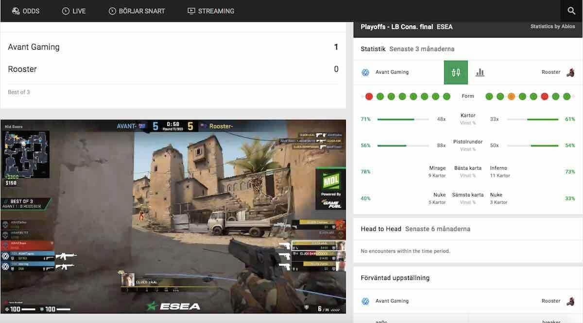 esport live stream cs:go