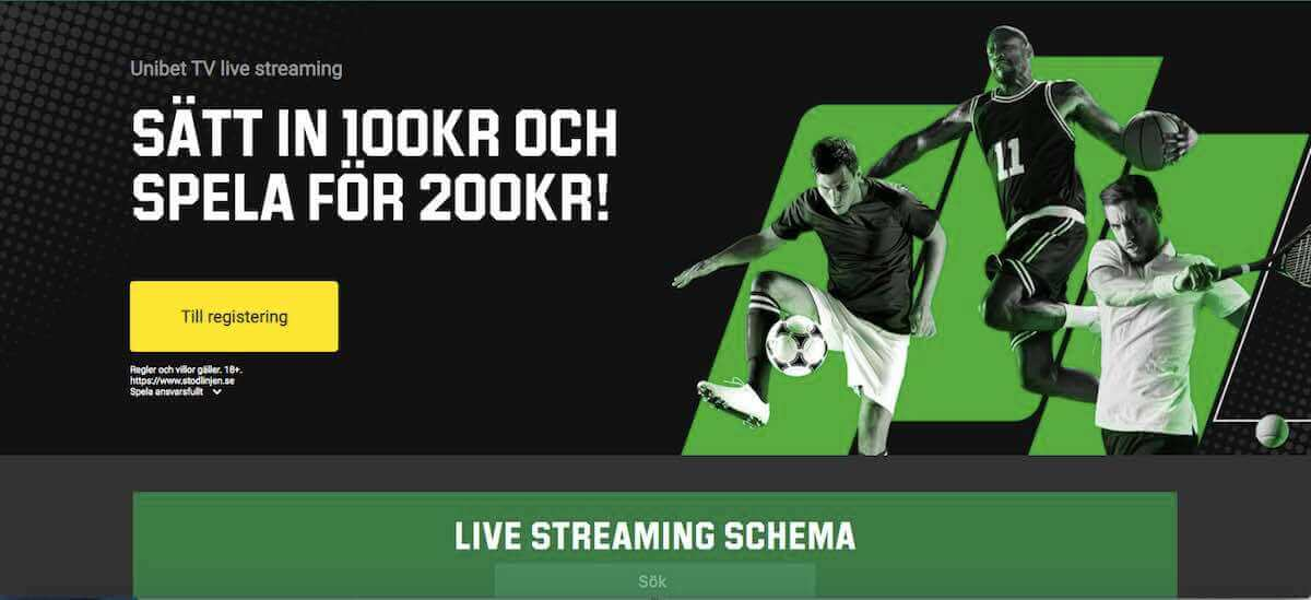 Fotboll live streaming gratis