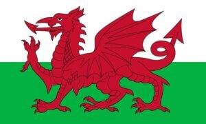 Wales flagga